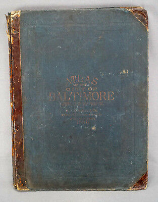 Rare 1896 Atlas Of Baltimore City Maryland By G. W. Bromley & Co COMPLETE