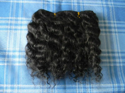 Reborn Doll, Mohair Wefts, Black