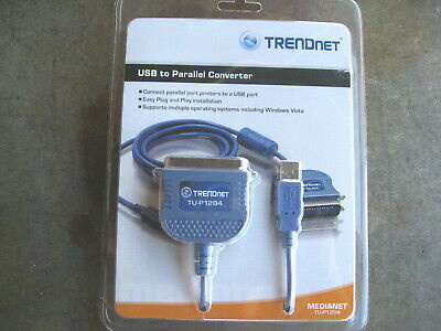 NEW TRENDnet USB 1.1 to Parallel 1284 Printer Cable Converter  TU-P1284