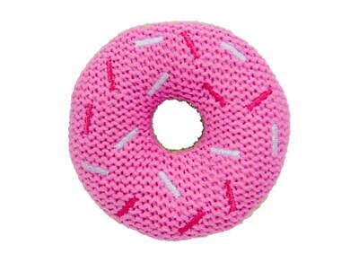 Annabel Trends - Knit Donut Rattle - Pink