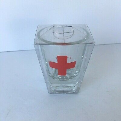 Rescue Shot Glass Bar Ware Red Cross Lifeguard Medical NEW