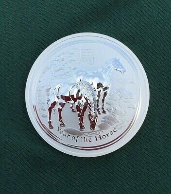 2014 $10 YEAR OF THE HORSE 10oz BULLION SILVER COIN IN CAPSULE PERTH MINT