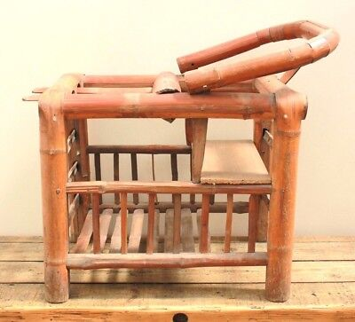 Antique Japanese Baby Chair Childrens Bamboo Nursery Baby Chair Circa 1900