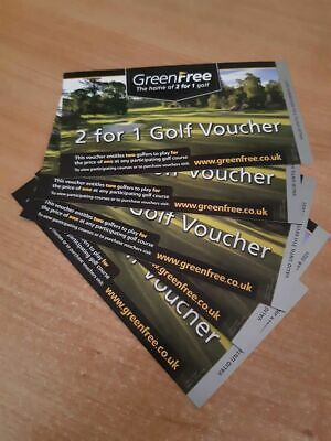 2 for 1 golf vouchers x 5 (valid to 31st December 2021) Postage