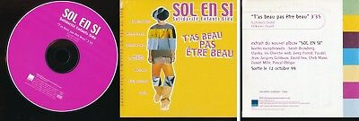 Sol En Si Cd Single Promo T'as Beau Pas Etre Beau Jean-Jacques Goldman Obispo