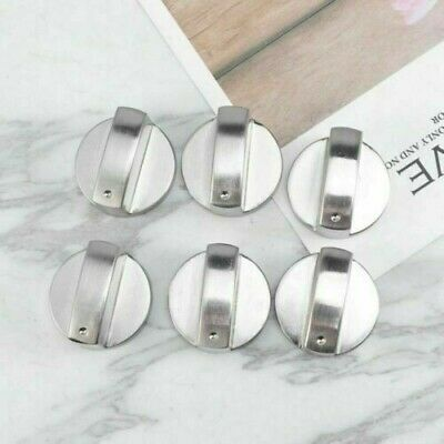 6Pcs Metal Gas Stove Knobs Cooker Oven Hob Kitchen Switch Control WS