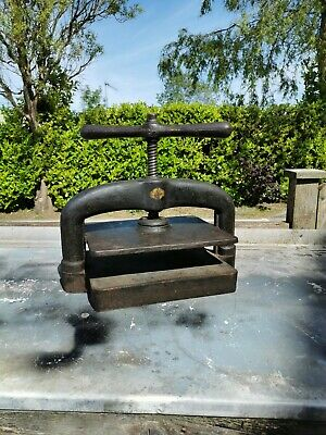 Antique Cast iron book press, Industrial, flowers, crafts