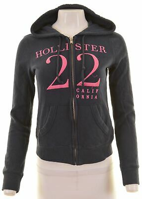 HOLLISTER Womens Hoodie Sweater Size 6 XS Navy Blue Cotton  CK11
