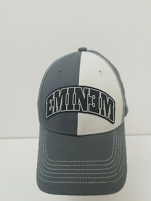 Eminem 2004 2 Tone Gray Fitted Cap Bio Domes Headgear one size fits most