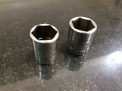 Snap On Sockets 16 And 17 Stubby Pair
