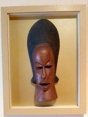 Hand carved wooden African ethnic Tribal Art Face Mask wall decoration (3)
