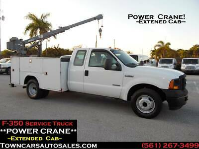 Ford F350 Extended Cab POWER CRANE Mechanics Truck SERVICE BODY TRUCK