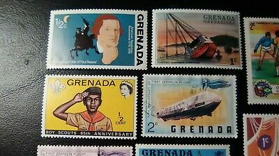 12 Assorted Stamps From Grenada