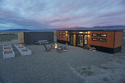 8x40 Container Home Fully Off Grid Tiny Home Shelters Preppers as Bunkhouse