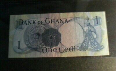 Ghana year 1967 paper money of 1 Cedi - about uncirculated