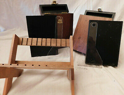 Wet Plate Collodion 4x5 Tank w/ Insert and Dipper Wood Brass Set