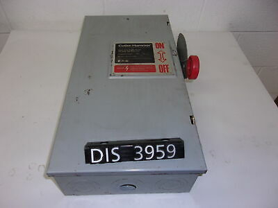 CUTLER HAMMER DISCONNECT 600 Volt 100 Amp FUSED (DIS3959)