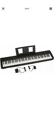Yamaha P71-B 88-Key Digital Piano with Sustain Pedal and Power Supply - Black