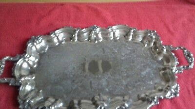 Lovely Heavy Oval Silver Plated Butlers Tray