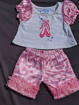 Build a Bear Workshop clothing -  Ballet inspired pyjamas or day wear - VGC
