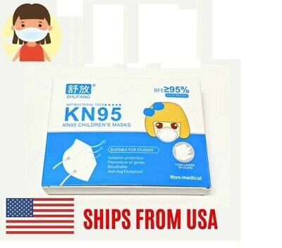 KN95 Protective Face Mask Elastic Earloop Mouth Cover Disposable Childrens Kids
