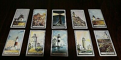 CIGARETTE CARDS. British American Tobacco. LIGHTHOUSES Near Set of 50 - 1926