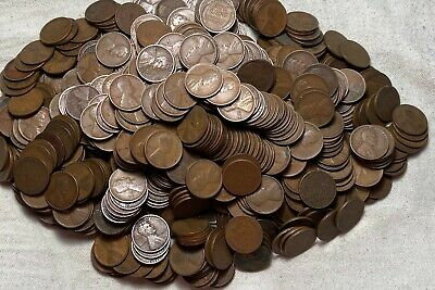 1 roll (50) Lincoln Wheat Cents from the Teens 1909 to 1919