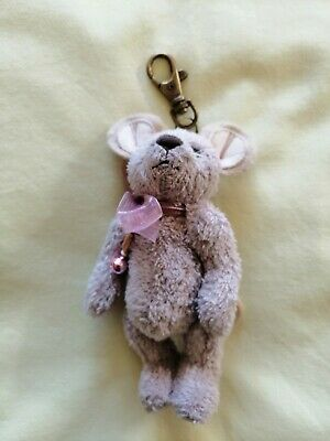 Charlie Bears minimo mouse with bag attachment hook