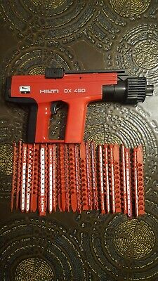 Hilti dx450 nail gun with 27 cartridge strips