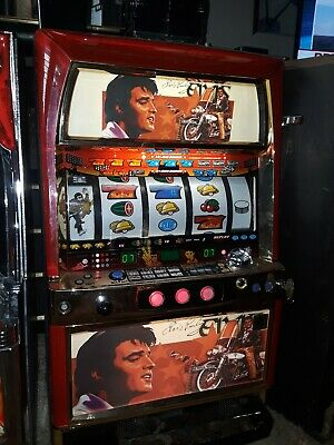 Elvis Presley themed Pachislo Skill Stop Arcade Slot Machine 200 Tokens 5 reels!