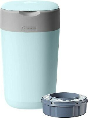 Tommee Tippee Twist and Click Advanced Nappy Disposal Sangenic Tec Bin, Blue
