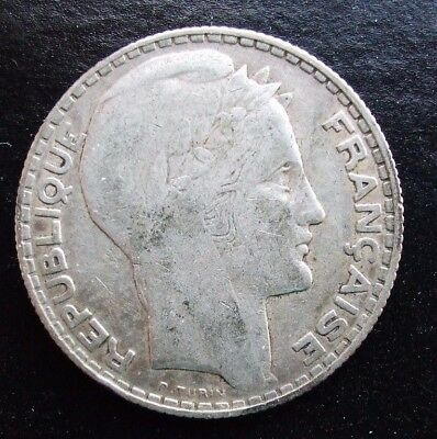 France P Turin 1932 10 Francs Liberty Silver Coin