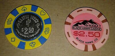 Cactus Pete's And Black Hawk Casinos Gaming Chips $2.50 Denom