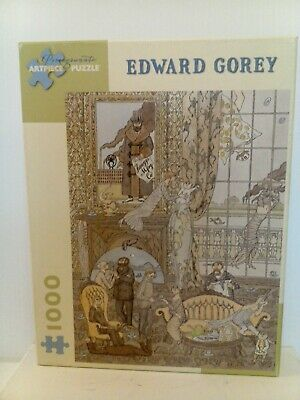 """Jigsaw Puzzle Pomegranate """"FRAWGGE MFRG CO"""" by Edward Gorey, 1000-pcs complete"""