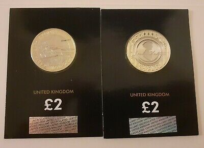 Jane Austen £2 pound coin 2017 and captain cook 2020 2 pound coin all BU!!
