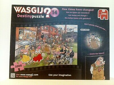 """Jigsaw Puzzle Jumbo """"HOW TIMES HAVE CHANGED"""" Wasgij Destiny 14, 1000pcs complete"""