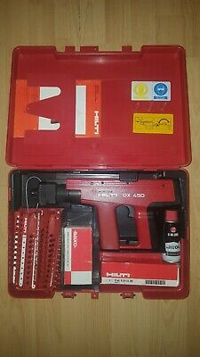 Hilti Dx450 with nails and 50 Cartridge strips