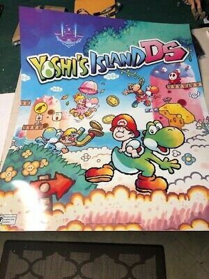 Super Mario World Nintendo Yoshi's Island DS Poster 2006 Hard Plastic Large