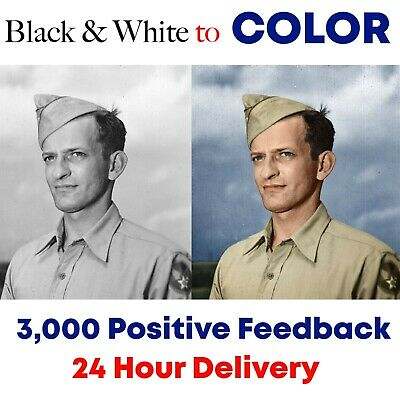 Black and White to Color Old Photo Restoration of Image Repair 24hr Service B&W