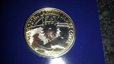 2019 Captain Cook £2 Pound Coin, Certified BU Sealed In A Card