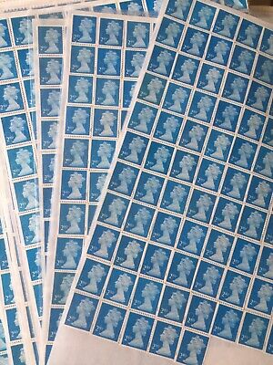 100 X 2nd class stamps unfranked Self-adhesive Peel And Stick-FV £65