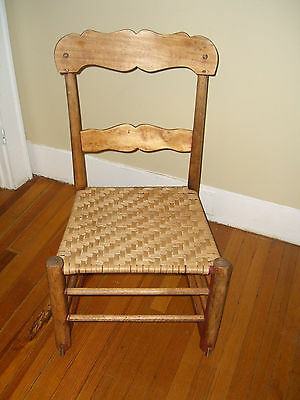 Antique/Primitive Caned Childrens Rocking Chair -Great Patina/Very Good Cane