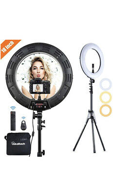 Ring Light 18 Inch 65W LED Ringlight Kit with Tripod Stand Phone Holder