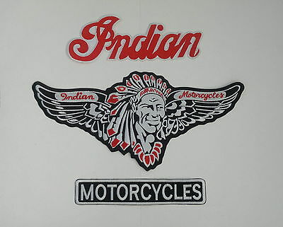 Indian motorcycle 3 piece with red back patch A BEAUTY.NEW