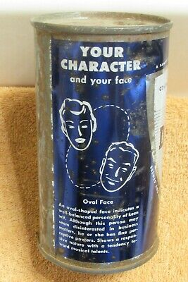 CHICAGO Drewrys Beer Flat Top set can: Blue oval/heart faces  Illinois