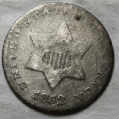 United States 1852 Silver Three Cent Trime