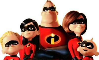 Walt Disney Pixar THE INCREDIBLES 2 Family Promo Pose - WindoCling Decal StickOn