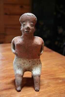 Pre Columbian Seated Man Figure