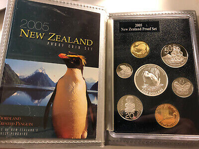New Zealand 2005 Proof Set With 1 Silver