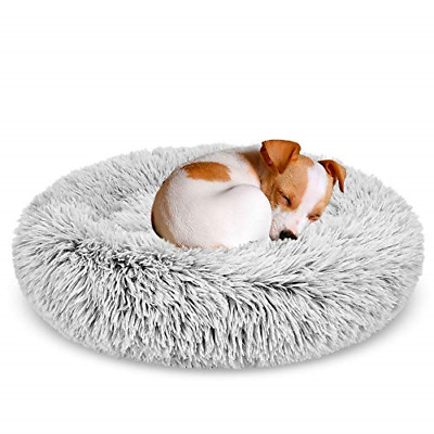 GASUR Dog Bed Cat Beds Donut, Soft Plush Round Pet Bed Small Mini Medium Size